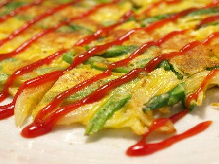 アスパラガスチーズお好み焼k3