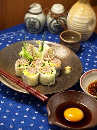 納豆蕎麦生春巻き8