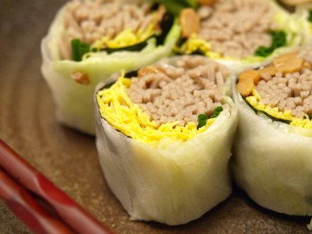 納豆蕎麦生春巻き9