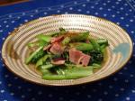 生姜風の小松菜ベーコン炒め6
