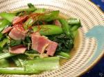生姜風の小松菜ベーコン炒め8