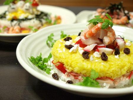 カレー寿司ケーキ1
