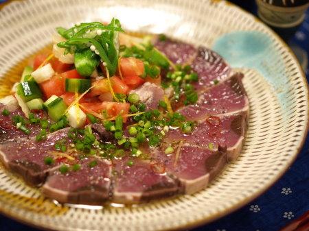 鰹たたき野菜カルパッョ6