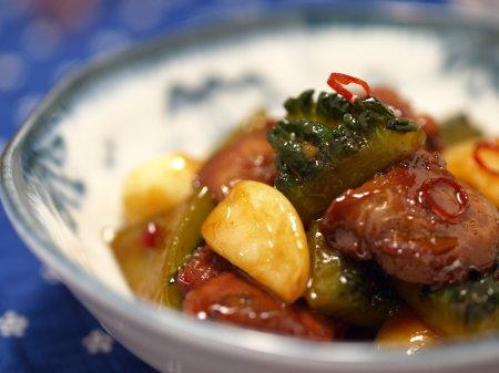 ゴーヤー鶏肝ストロング煮19