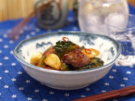 ゴーヤー鶏肝ストロング煮22
