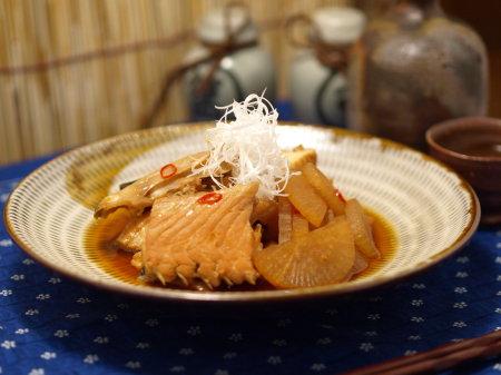 サーモンあらの辛味煮20