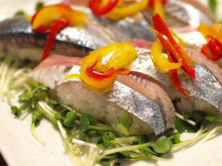 秋刀魚握り2種37