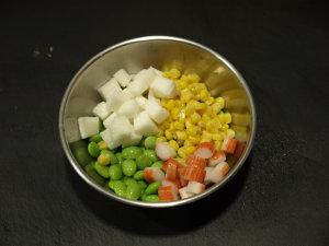 枝豆ユッケサラダ風4