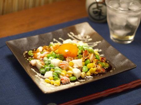 枝豆ユッケサラダ風7
