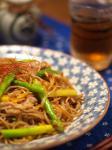 アスパラ焼き蕎麦8