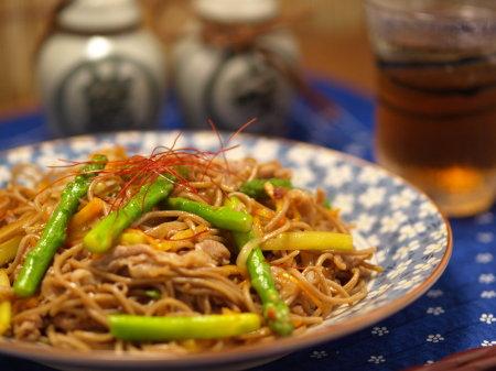 アスパラ焼き蕎麦9
