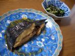 黒ガレイの煮物と酢の物
