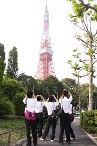 スクール撮影 秋田の卒業アルバム 修学旅行 東京タワー