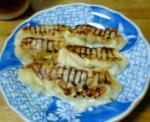 海老原流焼餃子。普通の焼餃子。