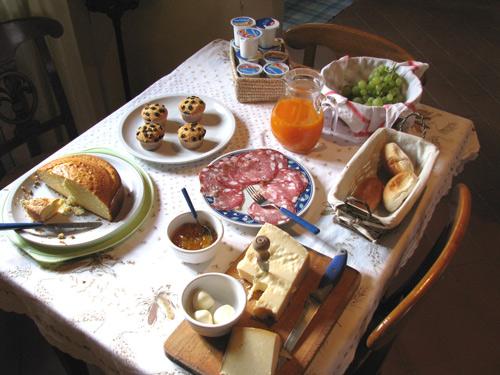 フィレンツェ郊外 朝食メニュー