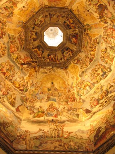 イタリアフィレンツェ ドーム天井