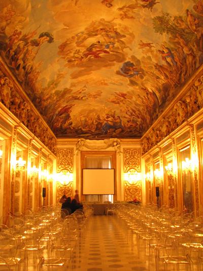 イタリアフィレンツェ メディチリッカルディ宮 鏡の間