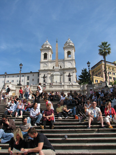 イタリア ローマ スペイン階段 昼間