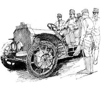 オーストリア皇太子を乗せて「ミクステ」で走るポルシェ