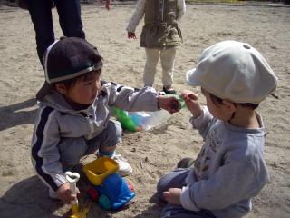 砂場遊び2