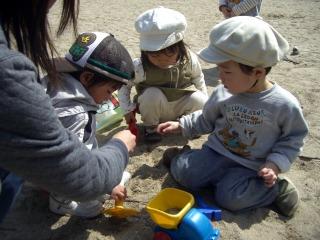 砂場遊び3