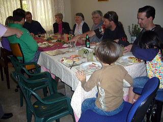 クリスマスランチ・テーブル