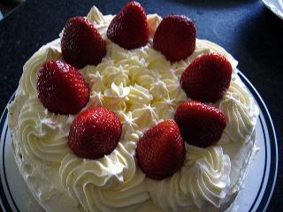 練習の苺ショートケーキ
