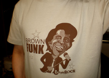 James Brown EverydayRock T Shirt Caricature