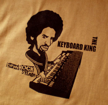 ロックTシャツ Reggae Keyboard King