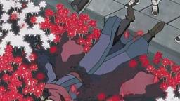 赤く染まる花