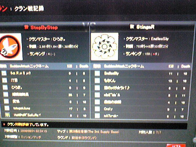 StingR戦