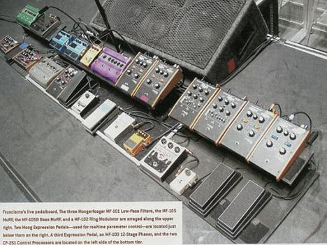 frusciante's pedalboard