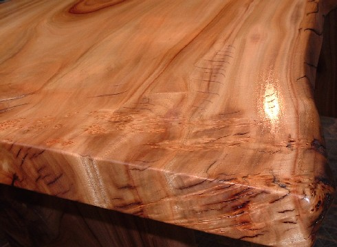 テーブル天板~自然塗料 塗布状況。