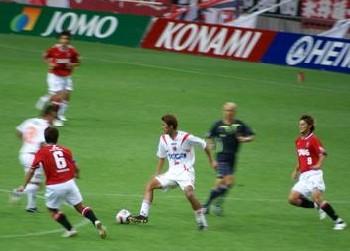 03 Sep 07 - Goal hero Hiroshi Morita in action