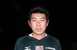 04 Feb 06 - New keeper Nobuhisa Kobayashi looms out of the darkness