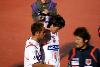 05 Mar 07 - Yosuke Kataoka is consoled by captain Fujimoto