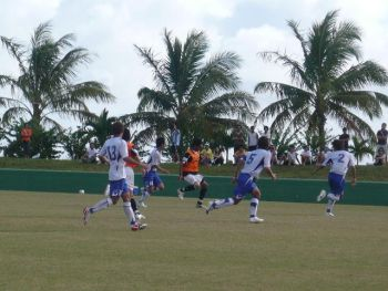 08 Feb 08 - Action from the Gamba friendly