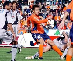 10 Apr 06 - Opening the scoring, Naoto Sakurai