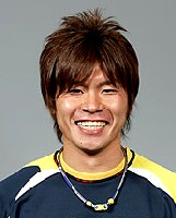 Former Squirrels reserve keeper Takahiro Takagi, now with Thespa Kusatsu...