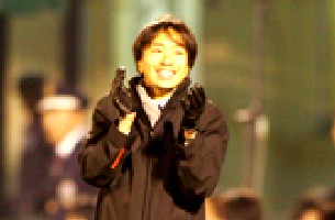 23 Nov 05 - Unusually, Toshiya Miura looking a happy bunny