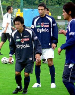 26 Jul 06 - Current Squirrels hero Tatsunori Hisanaga prepares to take on Nagoya