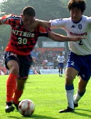 28 Jun 07 - Bare in action for Omiya against Shonan Bellmare, June 2001