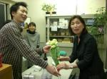 金井さん花束