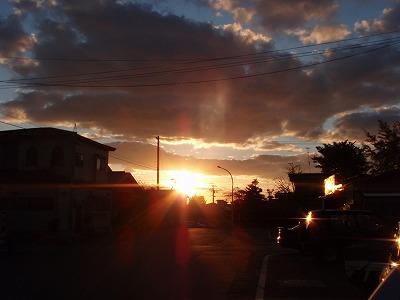 西の空 夕陽