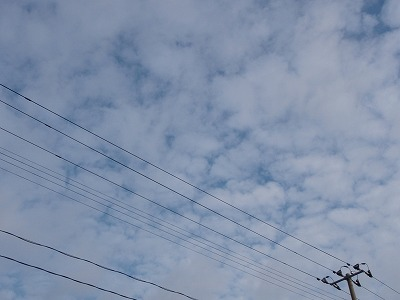 冬のうろこ雲もどき