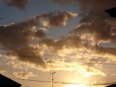 新年の朝日