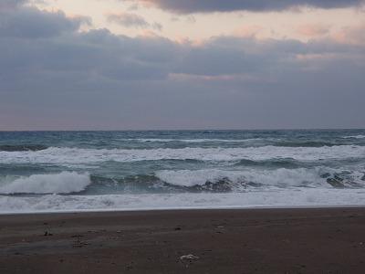 冬、荒れた海