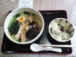 麺家 匠 岩海苔わさび塩ラーメン+お茶漬け(梅) 08.2.3