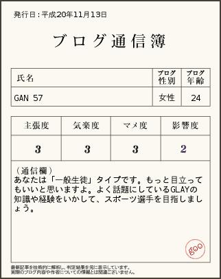 GAN通信簿