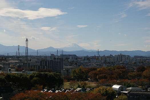 帰り着いて我が家からの富士